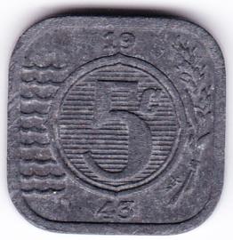 5 cent 1943 (Pracht+)