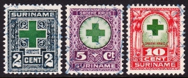NVPH 127-129 Groene-Kruiszegels Gebruikt Cataloguswaarde 4,50 E-3368