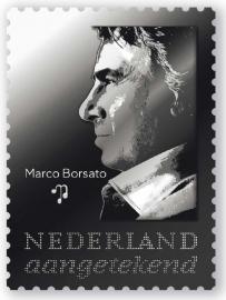 Persoonlijke Zilveren postzegel Marco Borsato 25 jarig jubileum OPLAGE 2,500 !!!