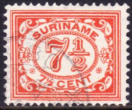 Plaatfout Suriname  83 PM   gebruikt