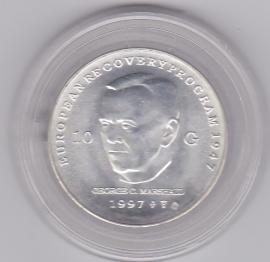 10 Gulden 1997 George C. Marshall Zilver  (UNC)