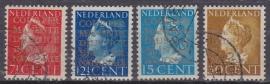 NVPH  D16a-19a Dienstzegels 2e druk gebruikt Cataloguswaarde 40.00 E-3131