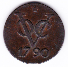 Ned. Indie VOC Duit  1790 Utrecht met ster  (Pracht)