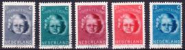 NVPH  444-448 Kinderpostzegels 1945 gebruikt