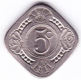 5 cent vierkant 1940     (Pracht)