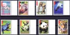 ZNB  1025-1032 Bedreigde dieren 1999 Cataloguswaarde 24,00