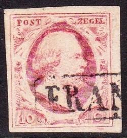 NVPH   2 Koning Willem 3 gebruikt Cataloguswaarde 35.00 E-2318