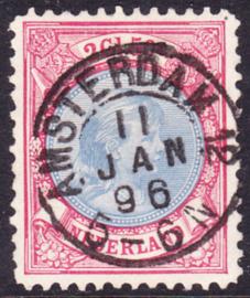 NVPH   47 Koningin Wilhelmina gebruikt Amsterdam 12 Cataloguswaarde 175.00++++