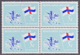 Ned. Antillen plaatfout 362 PM2 Postfris in blok van 4  E-6709