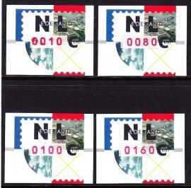 Automaatstrook  ''Nagler''  zoals uitgegeven 4 Postfrisse waarden  A-0426