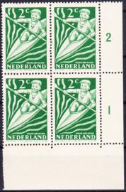 Plaatfout  508 P Postfris  in blok van 4  Cataloguswaarde 9.00