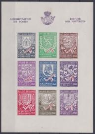OBP BL10A Wapenschilden 1941 Ongebruikt / MH Cataloguswaarde: 17,00 A-0385