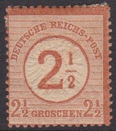 Mi   29 Freimarken: nr 21 mit aufdruck in Markenfarbe Ongebruikt / MH Cataloguswaarde: 50,00 E-1200