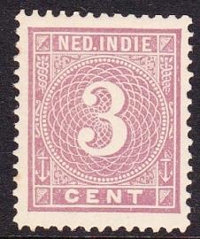 NVPH 20 Cijferzegel Ongebruikt cataloguswaarde: 2.50  E-1772