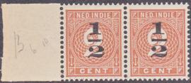 Plaatfout Ned. Indie 38 PM2 Postfris paar  E-6396