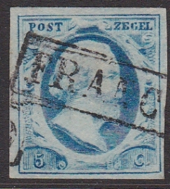 NVPH   1 Koning Willem 3 gebruikt Cataloguswaarde 45.00 E-1775