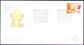 FDC 195fc  VARIATIE: Rode kleur enveloppe gedeeltelijk in geel Cataloguswaarde: 70,00
