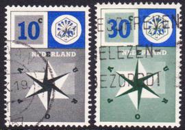 NVPH  700-701 Europazegels 1957 Gebruikt