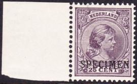 NVPH 42 Koningin Wilhelmina met Machine opdruk SPECIMEN Postfris