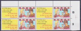 Plaatfout  1201 PM5  Postfris in blok van 4    A-0802