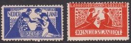 NVPH   134-135 Tooropzegels Ongebruikt  Cataloguswaarde 45.00  E-4370