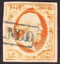 NVPH   3  Koning Willem 3 gebruikt Cataloguswaarde 170.00 E-2350