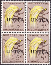 Ned. Nieuw Guinea / UNTEA  Opdrukafwijking UNafw PM5  op de 5 CT Postfris