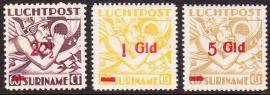 NVPH LP24-26 Mercuriuskop overdrukken Postfris cataloguswaarde: 59,00 E-0652