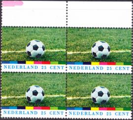 Plaatfout  1050 PM3 Postfris in blok van 4 Cataloguswaarde 15,00