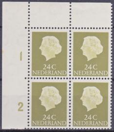 Plaatfout   622  PM2   Postfris  in blok van 4  E-2827