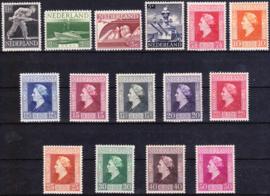 NVPH  428-442 Bevrijdingszegels 1944 Postfris cataloguswaarde: 14,75