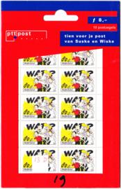 NVPH 1714 Hangzakje ''Tien voor je post van Suske en Wiske'' Postfris