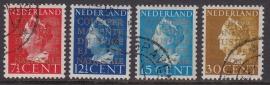 NVPH  D16a-19a Dienstzegels 2e druk gebruikt Cataloguswaarde 40.00 E-0856