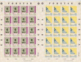 MI:  43-44  Vellen Europazegels 1979 Postfris  A-0603