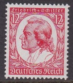 Mi 555 ''Geburtstag von Friedrich von Schiller'' Postfris Cataloguswaarde: 76,00 E-2321