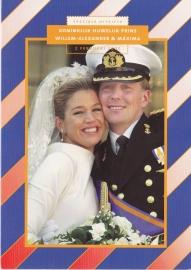 Herinneringsmapje:  Koninklijk huwelijk  KR-SP1