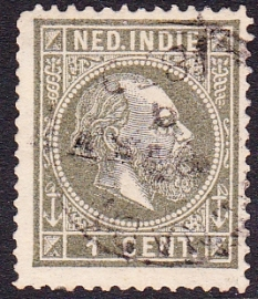 NVPH 3 Koning Willem 3 Gebruikt Cataloguswaarde: 8,00 E-1804
