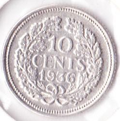 10 cent 1936 Zilver (Pracht)