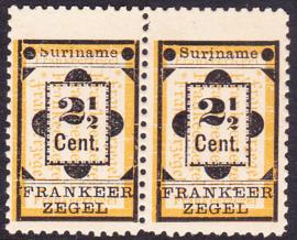 NVPH 22  + 22a Hulpzegel  in paar postfris zoals uitgegeven Cataloguswaarde 45,50