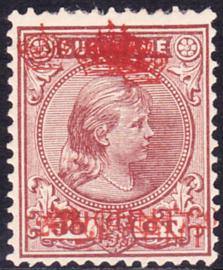 Suriname Proef 18 Kroontjes-opdrukken 20ct op 30ct cataloguswaarde 200,00