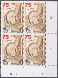 Plaatfout  1401 PM1  Postfris in blok van 4  Cataloguswaarde 18,00  E-2678