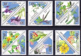 ZNB  832-843 Surinaamse Medicinale bloemen 1995 Cataloguswaarde 32,50