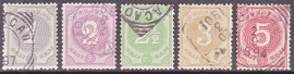 NVPH  13-17 Cijferzegels Gebruikt Cataloguswaarde: 22.50  E-4608