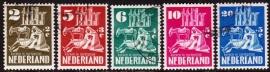 NVPH  556-560 Kerken in oorlogstijd Gebruikt  CW 53.50  E-2139