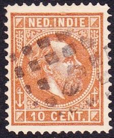 NVPH 9 Koning Willem 3 Gebruikt Cataloguswaarde: 0,50 E-0052