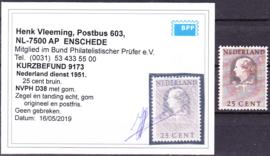 Dienst D38 Hartz en van Krimpen POSTFRIS Cataloguswaarde --,-- ZELDZAAM