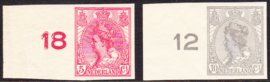 NVPH  82-83 Wilhelmina Ongetand  Postfris Cataloguswaarde 32.00