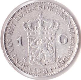 Nederland 1 gulden Zilver 1931 Koningin Wilhelmina ZF-