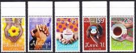 NVPH    7-11 Groet en wenszegels Postfris A-0937