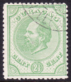 NVPH  1A Koning Willem III Gebruikt Cataloguswaarde: 27.50